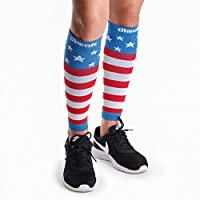 dimok Calf Compression Sleeves Pair - Leg Compression Socks for Calves Running Women Men - Best for Shin Splint Muscle Pain Better Circulation by dimok