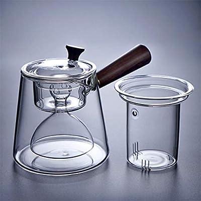 Giow Tetera, Tetera de Vidrio Lateral hirviendo, Filtro de Tetera Resistente al Calor Tetera humeante Juego de té Estufa de cerámica eléctrica: Amazon.es: Hogar