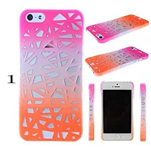 DD Colorful Bird's Nest Hollow Out Design PC Hard Case for iPhone 4/4S (Assorted Colors) , 5