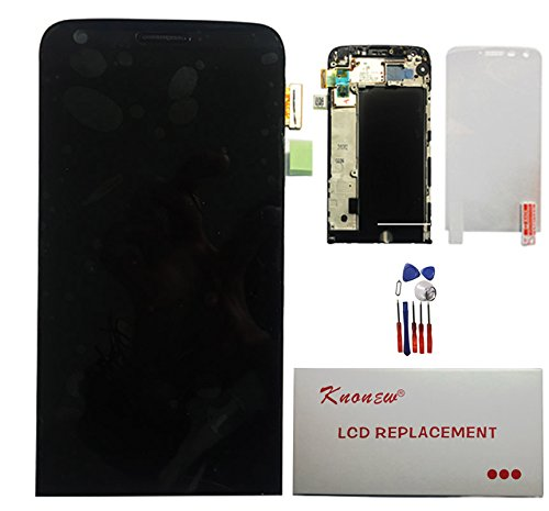 Price comparison product image KNONEW Commonly LCD Display Touch Screen Digitizer Assembly Replacement + Frame For LG G5 H820 H830 H831 H840 H850 (Black)