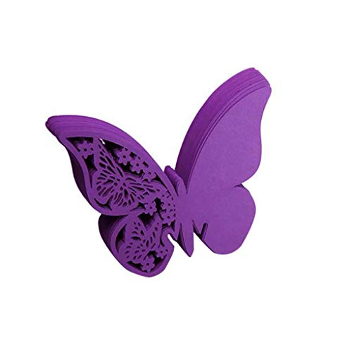 Puxiaoa Butterfly Wedding Supplies Wine Cup Card Glass Cup Decoration Wall Decals Sticker for Wedding Party Purple