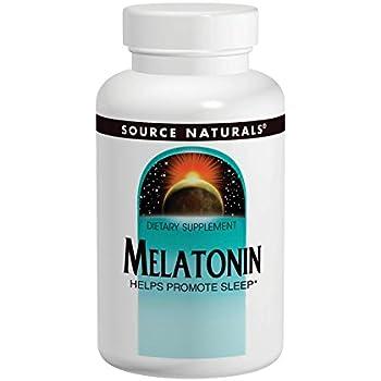 Source Naturals Melatonin, 1 Milligram, Peppermint Flavored, 200 Lozenges.