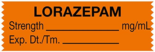 Medvalue Anesthesia Tape  Lorazepam Mg Ml  1 1 2  X 1 2   Orange   500 Inches Per Roll