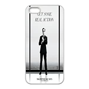 Qxhu Kingsman The Secret Service patterns Hard Plastic Cover Case for Iphone5,5S