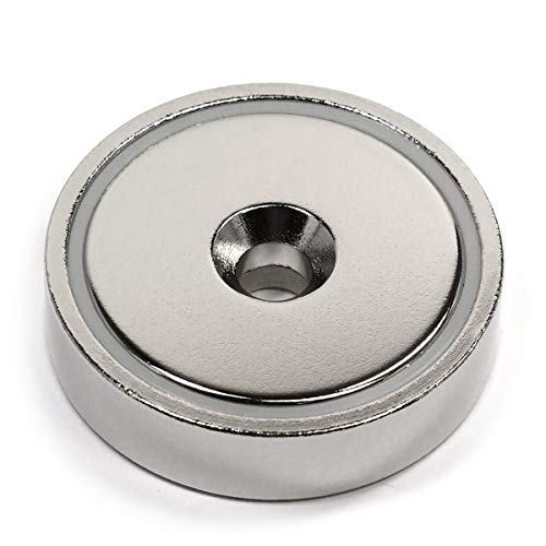 CMS Magnetics 150 LB Holding Power Neodymium Round Base Magnet w/Countersunk Hole 1.89 - 1 Ct.