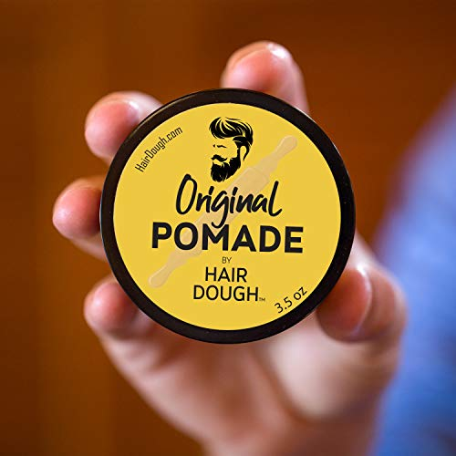 Hair Dough Pomade, Medium Hold and Semi-Matte Shine Styling Product for Men, Water Based/Soluble and Lightly Scented for… 7
