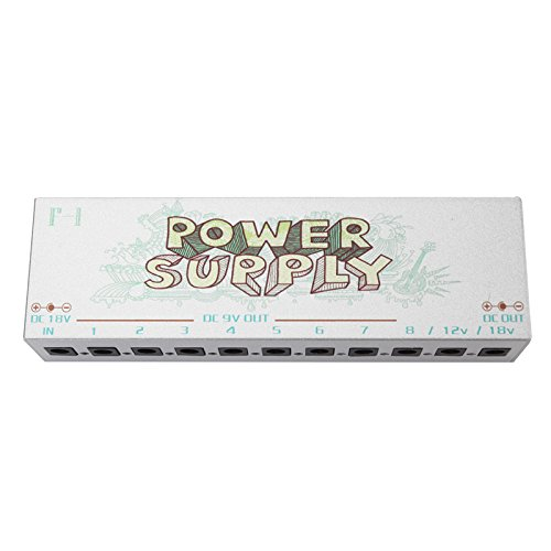 SILVER F-1 10 Lsolated Output 9V 12V 18V Guitar Effect Power Supply-2-032# by Fox