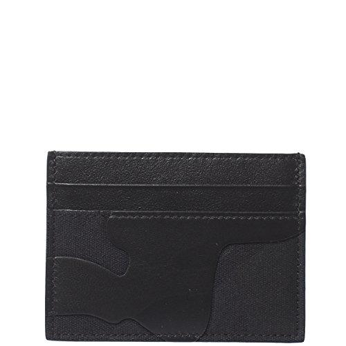 Price comparison product image Valentino Garavani Men's My0p0448tfn0no Black Fabric Card Holder