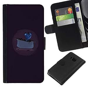 NEECELL GIFT forCITY // Billetera de cuero Caso Cubierta de protección Carcasa / Leather Wallet Case for HTC One M9 // Ratón consiguió un pastel de queso