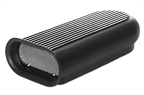 CCR Black Aluminum Hilborn Hood Carburetor Scoop Air Cleaner Blower Tunnel Ram ()
