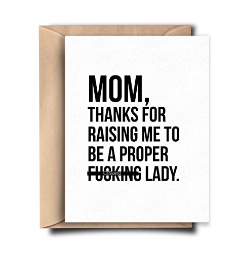 Funny Card for Mom - Mom Birthday Card - Mother's Day Card from Daughter - Happy Mother's Day Card
