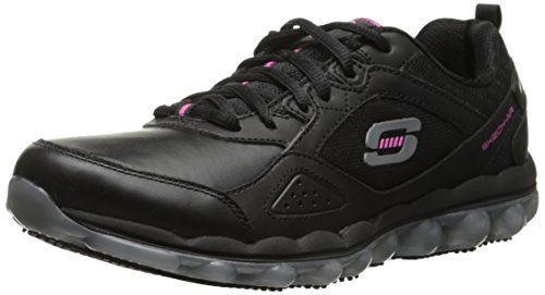 Skechers for Work Skech Air Slip Resistant Lace-Up,Black,9 M US