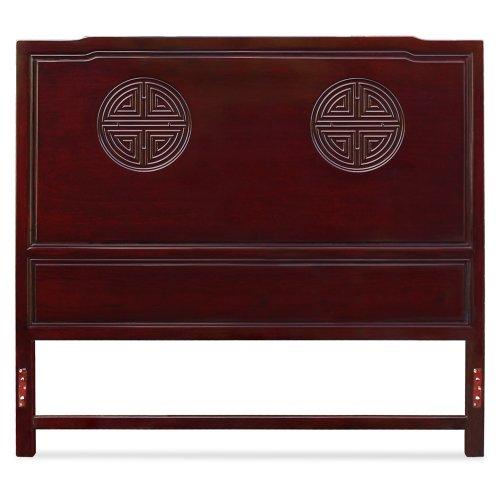 - Queen Size Longevity Design Rosewood Headboard - Dark Cherry
