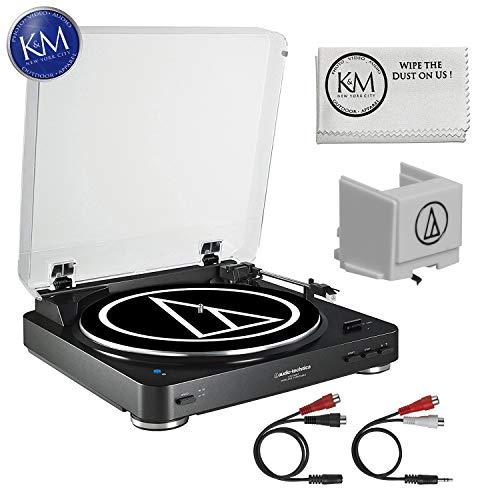 Audio-Technica AT-LP60 Bluetooth Turntable (Black) + Extra ATN3600L Stylus + K&M Cloth