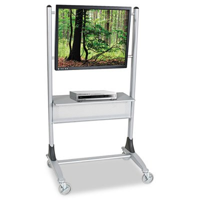 Platinum Series Plasma/LCD Cart, One-Shelf, 35w x 25-1/2d x 67h, Platinum, Sold as 1 (Platinum Lcd Cart)