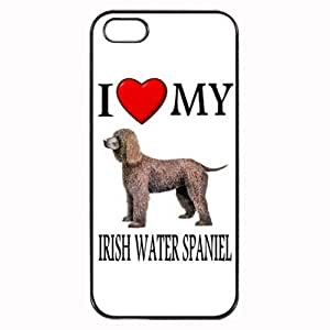 Custom Irish Water Spaniel I Love My Dog Photo iPhone 4 4S Case Cover Hard Shell Back