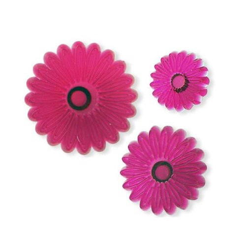 Plastic Cutter Set 3Pc-Small Petal Daisy Gerbera