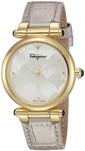 Salvatore-Ferragamo-Womens-IDILLIO-Quartz-Stainless-Steel-and-Leather-Casual-Watch-ColorBeige-Model-FCH020016