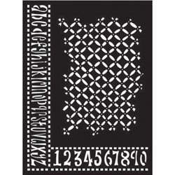 Bulk Buy: Ranger Inks (2-Pack) Dyan Reaveley's Dylusions Stencils 9in. x 12in. Alphabet Border DYSL-39518 by Ranger Products