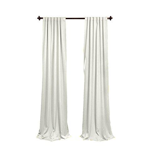 LA Linen Polyester Poplin Backdrop Drape (2 Pack), 96 x 58