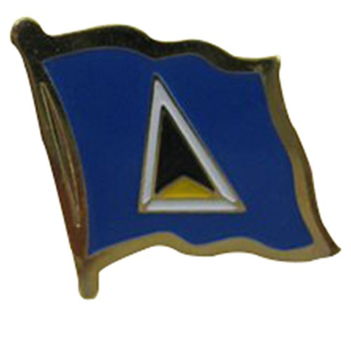 St. Lucia Single Lapel Pin - Lucia Single