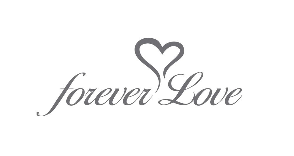 ''FOREVER LOVE'' Print - Heart Shaped Bridal Wedding Umbrella - IVORY by The Stunning Bride (Image #2)