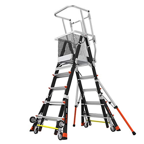 Little-Giant-Ladders-Adjustable-Safety-Cage-5-9-foot-Safety-Cage-Fiberglass-Type-1AA-375-lbs-weight-rating-18509-240