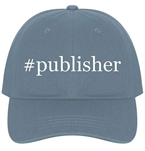 - The Town Butler #Publisher - A Nice Comfortable Adjustable Hashtag Dad Hat Cap, Light Blue