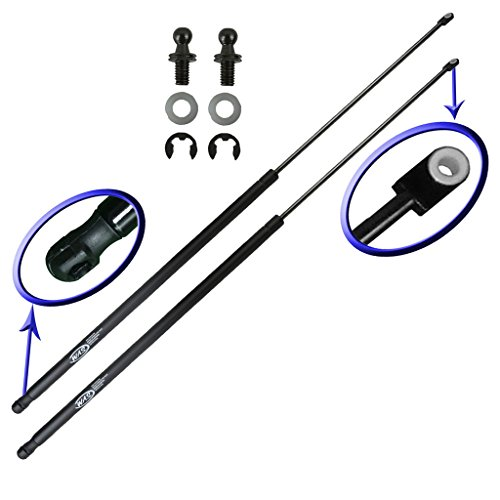 Two Rear Trunk Lid Gas Charged Lift Supports For 1994-2001 Acura Integra Hatchback. With Replacement Hardware. Left and Right Side. WGS-326-2