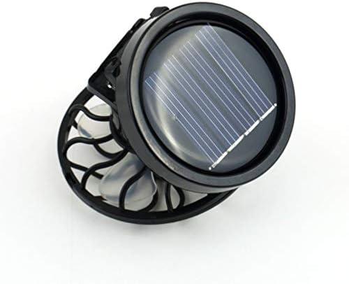 Kinshops Risparmio energetico Clip-on a energia Solare Ventilatore a Celle solari Pannello a energia Fredda Raffreddamento Nero Estate Portatile per Viaggi Pesca Arrampicata , Nero