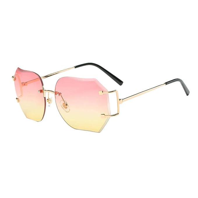 VJGOAL Unisex Retro gafas de sol cuadradas de colores ...