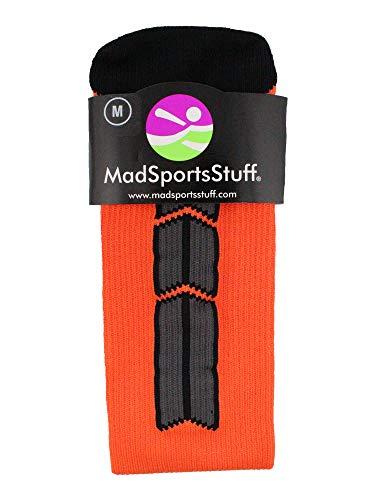 MadSportsStuff Orange/Black Player Id Over the Calf Number Socks (#24, Medium) by MadSportsStuff (Image #2)