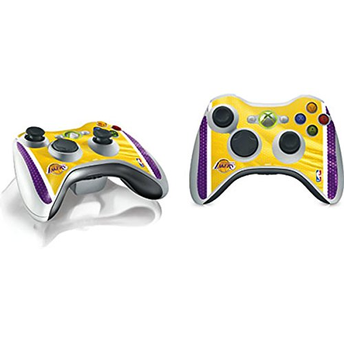 NBA Los Angeles Lakers Xbox 360 Wireless Controller Skin - Los Angeles Lakers Home Jersey Vinyl Decal Skin For Your Xbox 360 Wireless Controller by Skinit