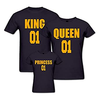 d4650d0a2 pepperClub Royal Family Tshirt - Set of 3 for Mom Dad and Daughter: Amazon. in: Clothing & Accessories
