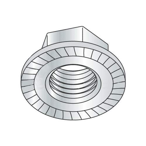3/8''-16 Large Flange Hex Flange Locknuts/Serrated/Case Hardended Steel/Zinc Plated (Quantity: 2000)