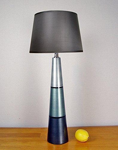 Amazon com: Table lamp  Hand painted, silver, sage, charcoal: Handmade