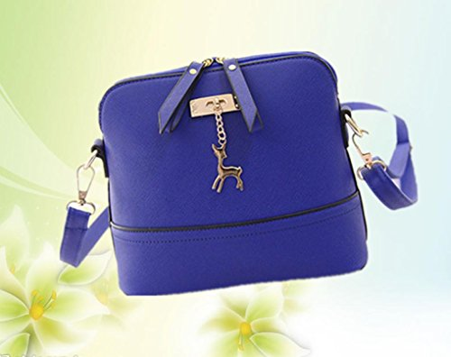 Tassel Pendant Crossbody Blue Lightweight Deer with CieKen Clearance Small Medium Bag with 7YRWq