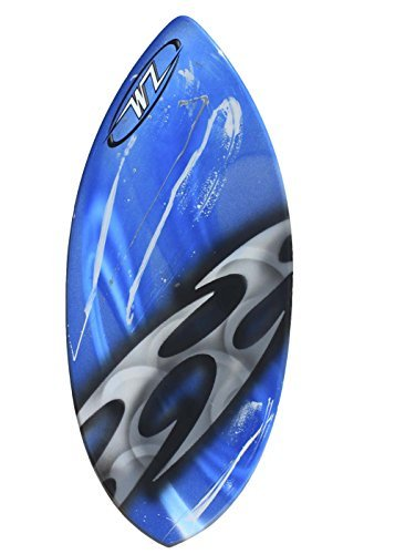 Wave Zone Rip - 43'' Fiberglass Skimboard for Riders up to 145 Lbs - Blue