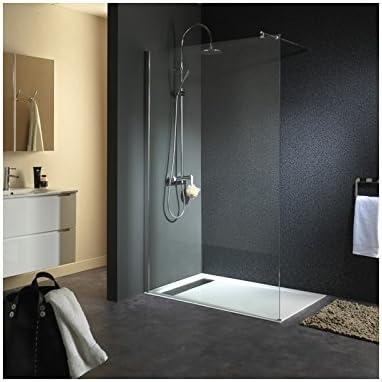 conception adroite prix de la rue prix compétitif Paroi de douche fixe en verre 8mm 120X195cm: Amazon.fr ...