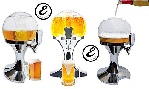 Secador para dispensador refrigerado Cerveza y bebidas en forma de bola con caja para cubitos de hielo beer-Dispensador 3,5 L: Amazon.es: Hogar