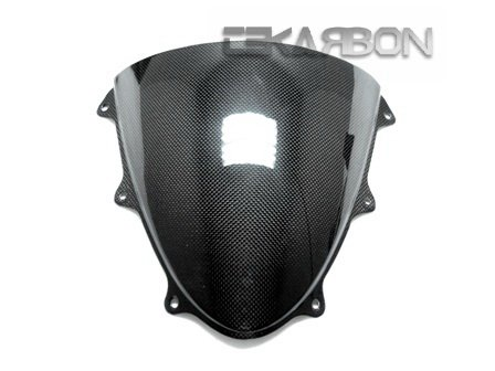 Tekarbon, Carbon Fiber Windscreen, for Suzuki GSXR 600/750 (2011-2018), 1x1 Plain Weave (2018 Gsxr 600 Windscreen)