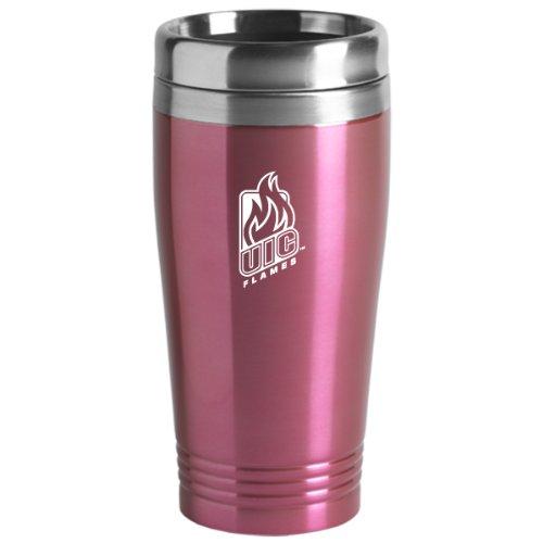 University of Illinois at Chicago - 16-ounce Travel Mug Tumbler - Pink