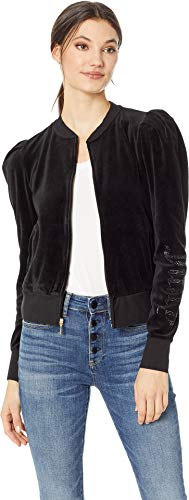 Juicy Couture Women's Velour Puff Sleeve Jacket Pitch Black ()