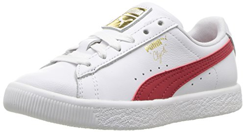 PUMA Unisex-Kids Clyde Core L Foil, White, 8 M US Toddler
