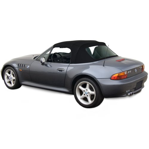 BMW Z3 Convertible Top in Haartz Stayfast Cloth with Integrated Plastic Window Black