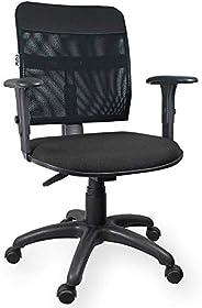 Cadeira Tela Executiva Ergonômica NR17 Com Braço Regulável Preta - ULTRA Móveis