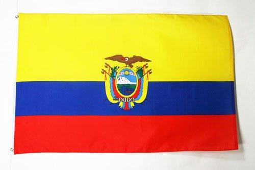AZ FLAG Bandiera Ecuador 150x90cm - Gran Bandiera ECUADOREGNA 90 x 150 cm Poliestere Leggero - Bandiere