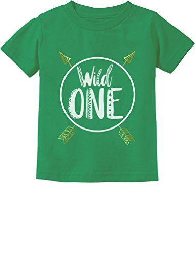 1st T-shirt - Wild One Baby Boys Girls 1st Birthday Gifts One Year Old Infant Kids T-Shirt 12M Green
