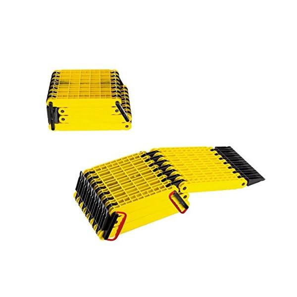 Uniko 6in1 Faltrampe 2er Set, Kunststoff-Sandblech Traktionshilfe Anfahrhilfe Sandboard