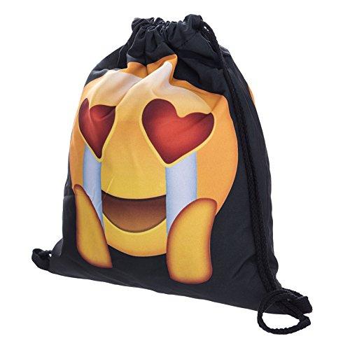 legendschan Emoji-Print Kordelzug Schultertasche Schule Rucksack Schultertasche Reisetasche Rucksack Turnbeutel Handtasche zohra-63 xEdzZA